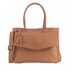 Leather peach made in Italy handbag