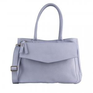 lavender leather handbag made in Italy