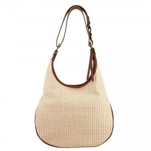 natural color rafia handbag