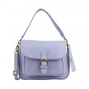Lavender leather handbag