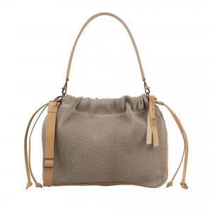 sand leather handbag