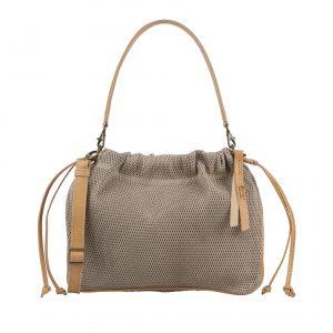 sand leather handbag