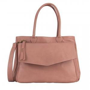 Almond leather handbag