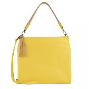 Yellow leather handbag