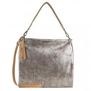 Silver elather handbag